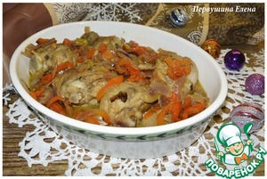 Рецепт Голени с овощами, тушенные в белом вине