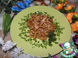Рецепт Кальмары в соево-медовом соусе с чесноком