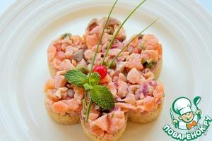 Рецепт Тар-тар с лососем и жареным кус-кусом