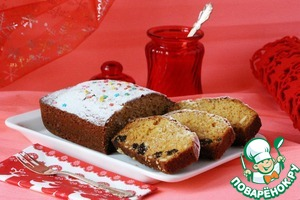 Рецепт Пряный имбирный кекс с черносливом и кленовым сиропом
