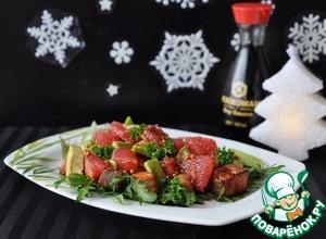 Как готовить Салат с лососем-гриль