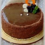 Шоколадный торт с черносмородиновым муссом