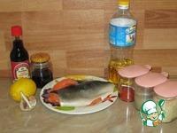 Лосось запеченный с соевым соусом и кунжутом ингредиенты
