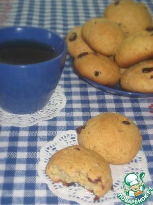 Рецепт Творожное печенье с клюквой и овсяными хлопьями