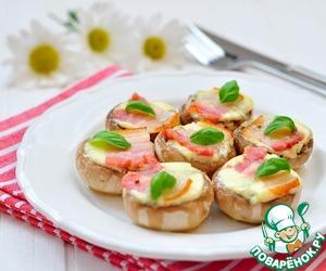 Рецепт Грибы, запеченные с сырами и панчеттой