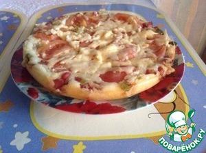 Рецепт Быстрая пицца в мультиварке