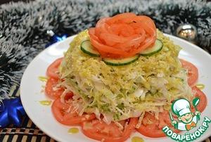 Слоеный капустный салат простой рецепт с фотографиями как готовить
