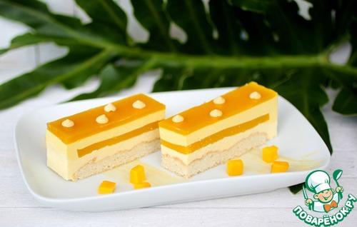 Манговый-кокосовый торт