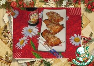 Рецепт Лосось запеченный с соевым соусом и кунжутом