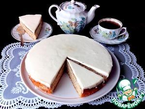 Рецепт Пирог с маком и сливочной заливкой