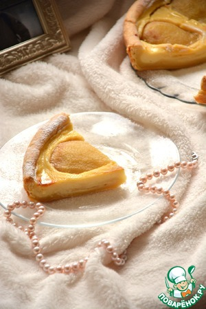 Рецепт Пирог с карамелизированными грушами и заварным кремом