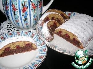 Рецепт Ореховый кекс с безе и вяленой вишней