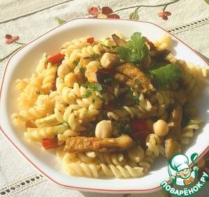 Рецепт Теплый салат из пасты и овощей