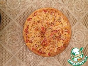 Рецепт Пицца с куриной грудкой