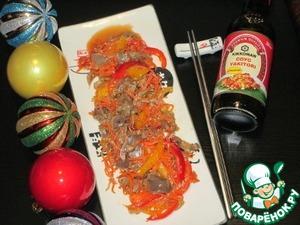 Рецепт Салат из куриных желудков по-восточному