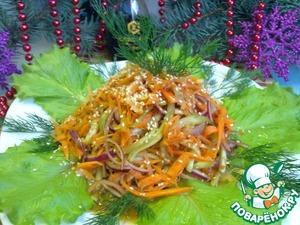 Рецепт Салат из моркови и огурцов
