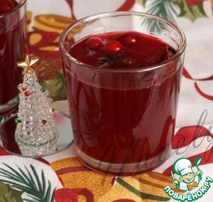 Рецепт Пряный клюквенный напиток