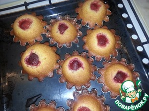 Рецепт Медовые кексики с клубникой