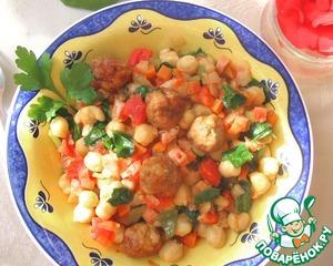 Рецепт Теплый салат из нута