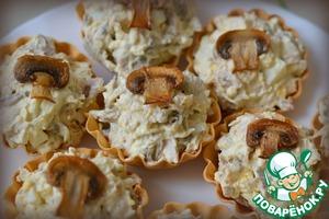 Рецепт Тарталетки с курицей и грибами