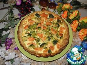 Рецепт Киш с семгой и брокколи