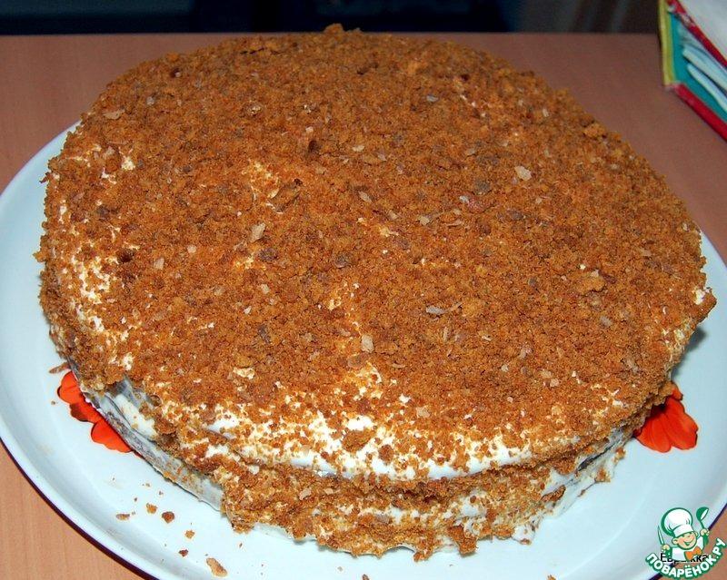 Пошаговый рецепт приготовления медового торта с