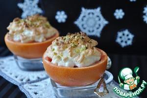 """Рецепт Десерт """"Фрукты под снегом"""""""