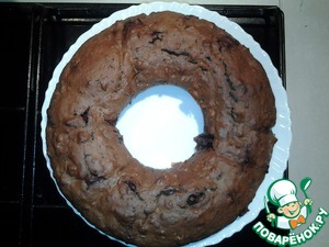 Рецепт Чайный кекс с шоколадом и орешками