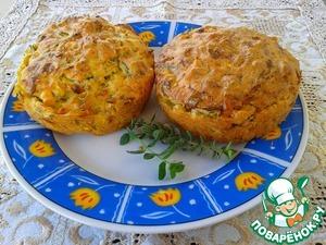 Рецепт Закусочные кексы с кабачками и фетой