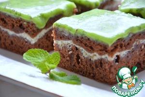 Рецепт Шоколадно-мятные брауни