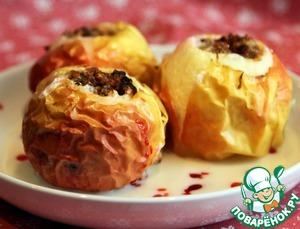 Рецепт Печеное яблоко с корицей