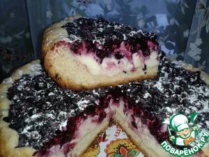 Готовим вкусный рецепт приготовления с фотографиями Пирог с творогом и ягодами
