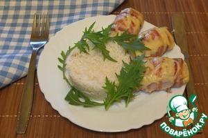 Рецепт Биточки из индейки на рисовой шубе