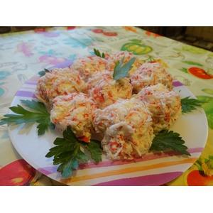Рафаэлки из крабовых палочек рецепт