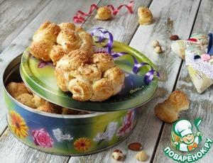 Сахарно-ореховые слоёные розы