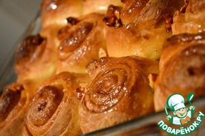 Рецепт Медовые булочки с корицей и пеканом