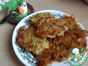 Рецепт Драники с ветчиной, сыром и зеленью