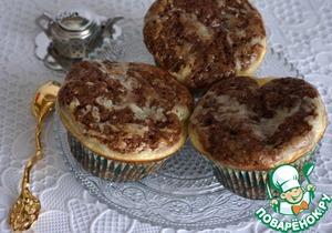 Рецепт Шоколадно-сырные кексы с вяленой вишней