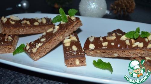 Овсяное печенье с шоколадом и земляным орехом