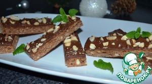 Рецепт Овсяное печенье с шоколадом и земляным орехом