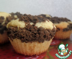 Рецепт Маффины малиновые с шоколадным штрейзелем