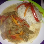 Кисло-сладкое мясо с овощами и бальзамиком