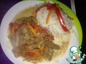 Рецепт Кисло-сладкое мясо с овощами и бальзамиком