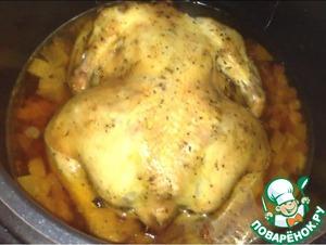 Рецепт Запеченная курица с клюквой и яблоками