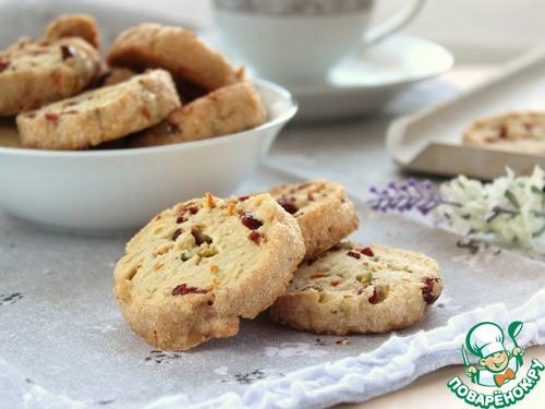 Клюквенно-фисташковое печенье