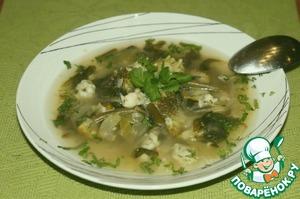 Рецепт Суп с зелеными овощами и клецками