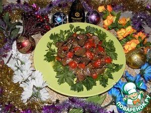 Рецепт Куриная печень в соевом соусе