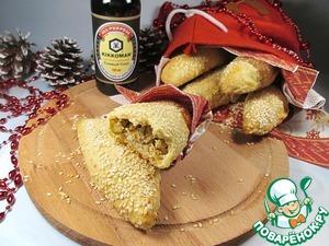 Рецепт Закусочные пирожки с курицей, оливками и сыром