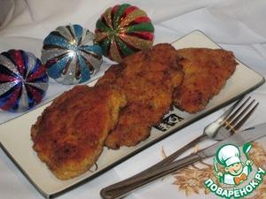 Рецепт Куриные отбивные в яично-сырной шубке