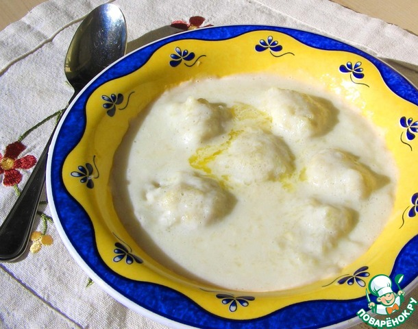 Молочный суп с картофельными клецками рецепты